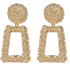 Jewelry - Gold Geometric Statement Earrings